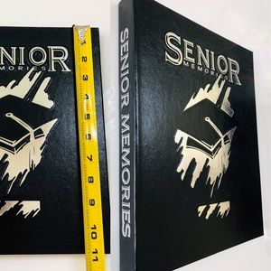 NWOT Senior Memories Black Hardback Leather Book